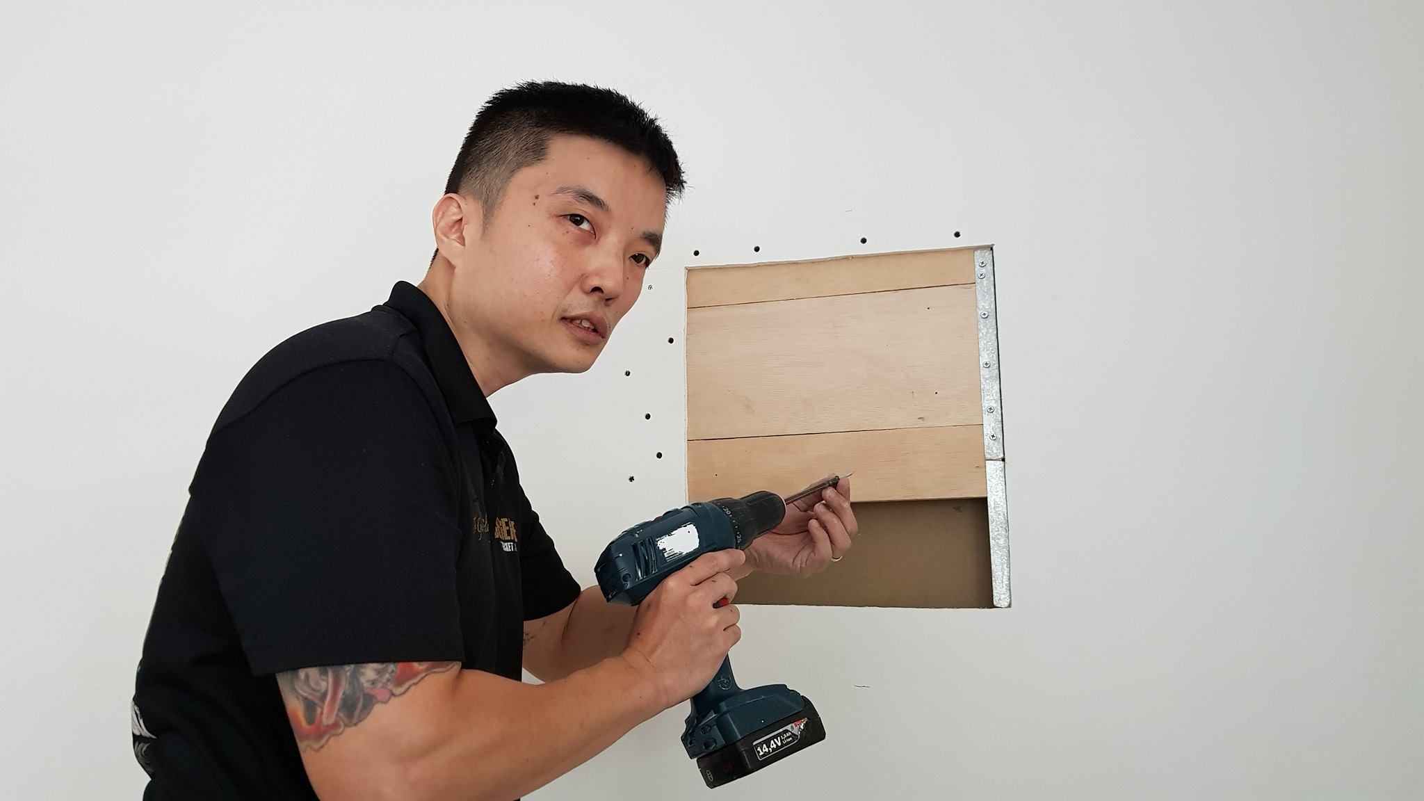Partition wood reinforcement 3 1 - Mount TV On Drywall