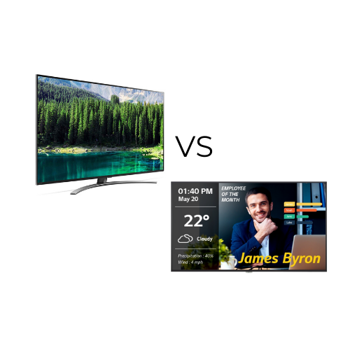 consumer TV vs commercial display